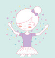 beautiful ballerina ballet cartoon character vector image