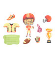 boy american football player kids future dream vector image vector image
