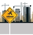 buildings under construction icon vector image