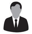 businessman black icon vector image vector image