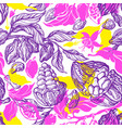 cacao seamless pattern tropical paradise print vector image