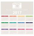 Calendar 2017 template design vector image vector image