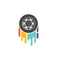 car wheel color track vector image