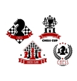 Chess game club and cup icons vector image vector image