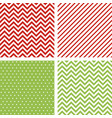christmas seamless patterns minimal backgrounds vector image vector image