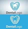 dental logo 10 vector image vector image