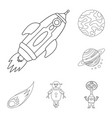 design of space and galaxy icon collection vector image