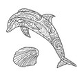 dolphin pattern coloring book coloring page vector image