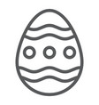 easter egg line icon easter and decoration egg vector image vector image