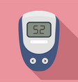 electronic glucometer icon flat style vector image vector image