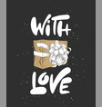 engraved style with typography for posters vector image