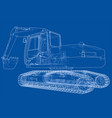 excavator concept outline vector image