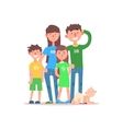 Family with Parents Wearing Jeans vector image vector image