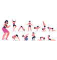 fitness and yoga sportive young woman doing vector image vector image