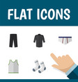 flat icon clothes set of uniform foot textile vector image vector image