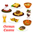 german cuisine traditional food for lunch icon vector image vector image