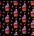 halloween cupcake vector image vector image