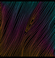 hand drawn abstract colored thin lines on black vector image