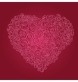 heart red roses vector image
