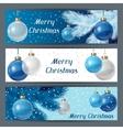 Holiday horizontal banners template with christmas vector image