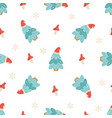 holiday seamless pattern with christmas trees vector image vector image
