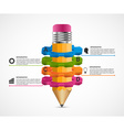 Infographics for presentations in education or vector image vector image