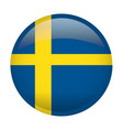 isolated flag of sweden vector image vector image