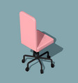 isometric office wheelchair modern workplace vector image