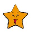 kawaii star cartoon cute facial expression vector image vector image
