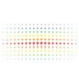medicine caduceus symbol spectrum halftone matrix vector image vector image