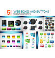 mega collection of web design boxes and buttons vector image
