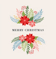 merry christmas greeting card in elegant modern vector image vector image