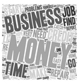Money Problems Consider A Viable Home Business vector image vector image