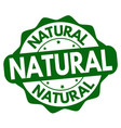 natural label or sticker vector image vector image