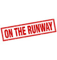 on the runway square stamp vector image vector image