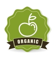 organic food design over white background vector image vector image