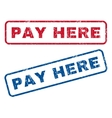 Pay Here Rubber Stamps vector image vector image