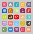 Personal financial line flat icons vector image vector image