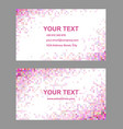 Pink colorful mosaic business card template set vector image vector image