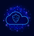 protected cloud data storage technology design vector image vector image