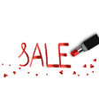 realistic lipstick love sale for woman vector image