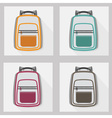 school bags and back packs icon set pattern vector image