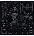 Science on a black vector image
