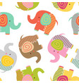 seamless pattern with baelephant vector image vector image