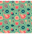 Seamless patternBirds and flowers vector image