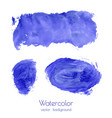 set of navy blue watercolor texture backgrounds vector image vector image