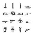 Simple weapon and war icons vector image vector image