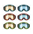 ski snowboard goggles vector image vector image