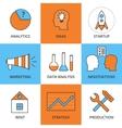 Stock Linear icon Business Development vector image vector image