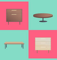 stylish wooden furniture with smooth surfaces vector image